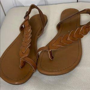 Tan Braided Sandals